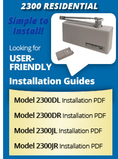 Model 2300 Residential Installation Guides